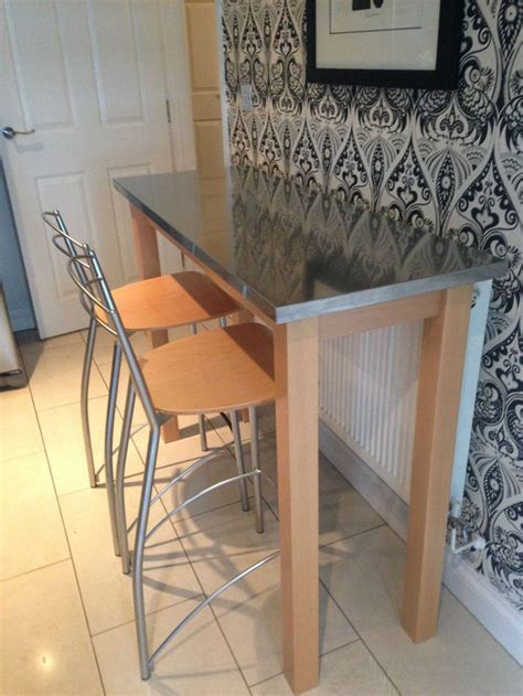 Breakfast Bar Table And 2 Stools by Breakfast Bar Table And 2 High Chairs Bar Tables