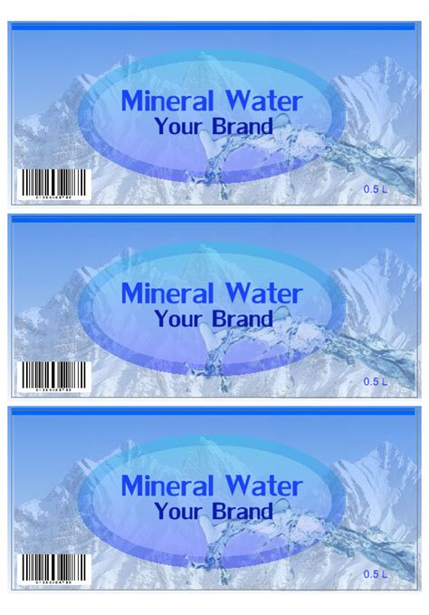 mineral water label template mineral water label template images templates design ideas
