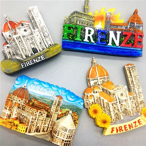 Handmade Fridge Magnets - handmade painted florence italy refrigerator magnet world