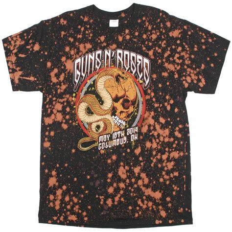 T Shirt Raglan Heavy Hitters vintage wear guns n roses snake skull t shirt black