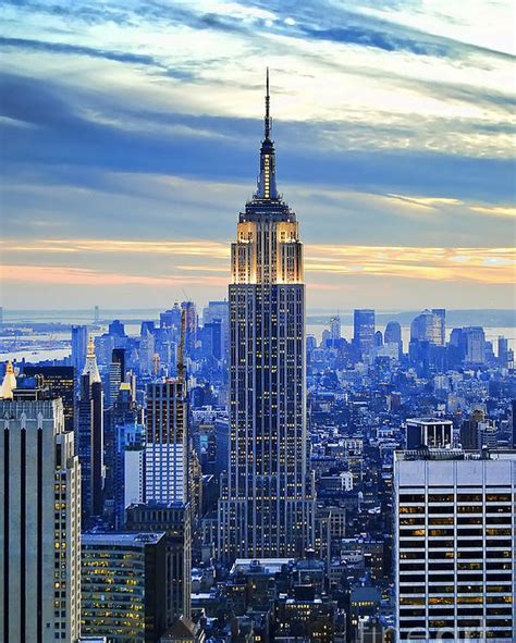 the mat building ny empire state building new york city usa poster by sabine