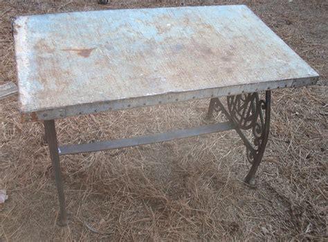 vintage rustic weathered 38 x 21 galvanized metal table