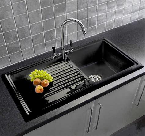 black kitchen sinks uk reginox rl404 ceramic sink with tap sinks taps