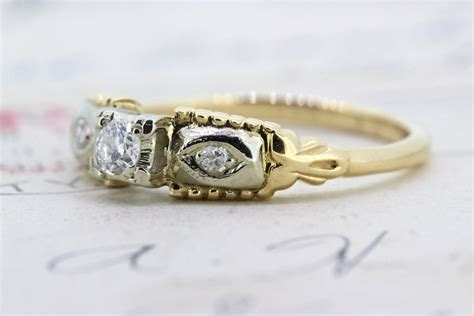 vintage engagement ring promise ring 14k from gesshop