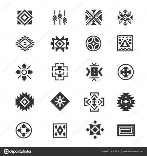 imagenes de simbolos geometricos s 237 mbolos mexicanos tribales tradicionales cultura 233 tnica