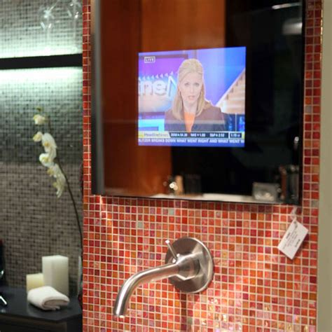 bathroom mirrors with tv built in bathroom mirrors with built in tvs by seura digsdigs