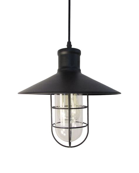 Industrial Style Pendant Lights Ems Free Shipping Pendant Light Rustic Industrial Style Cage Foyer Pendant L With Matte Black