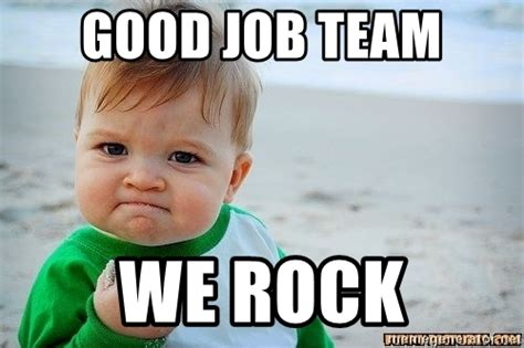 Winning Baby Meme - good job team we rock victory baby meme generator