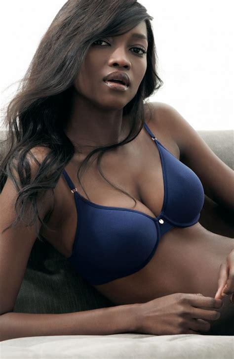 nigeria girl lingerie oluchi onweagba for nordstrom april 2011 lingerie catalog