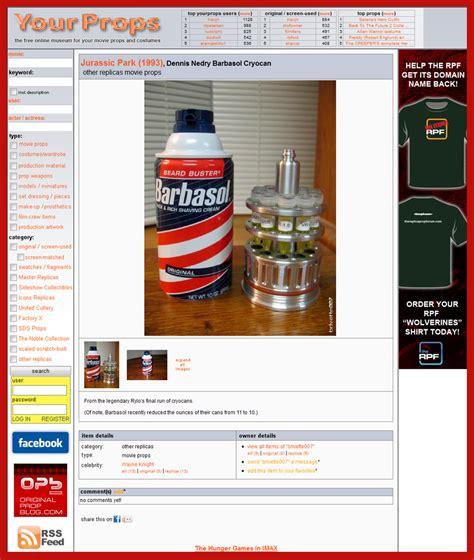 ebay listing ebay auction jurassic park cryocan screen used prop