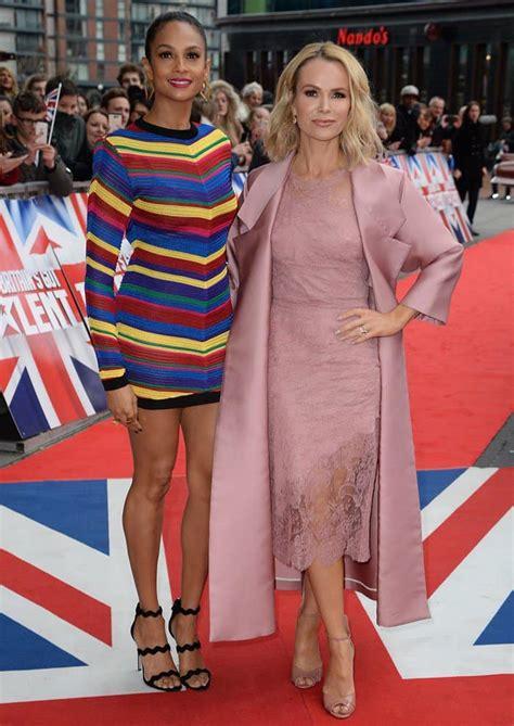 Alesha Dress Set alesha dixon wears chevron striped mini dress and