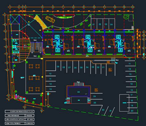 hotel layout plan autocad hotel in the city 2d dwg design plan for autocad designs cad