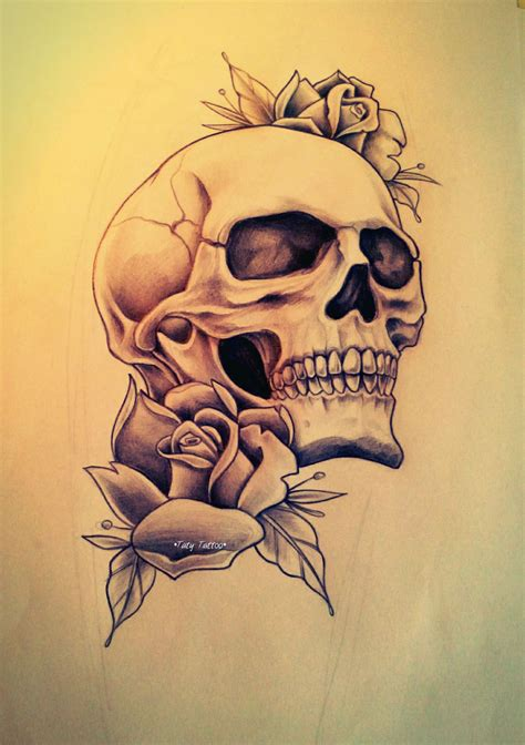 best 20 skull roses tattoo ideas on pinterest skull skull roses made by taty tattoo teschio rose tattoo