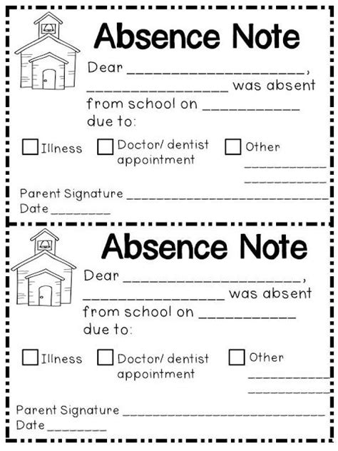 Sle Absence Letter For Elementary School 25 Best Open House Forms Ideas On