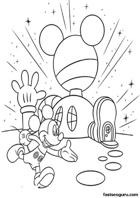 mickey mouse clubhouse coloring pages online cartoon printable mickey mouse clubhouse coloring pages