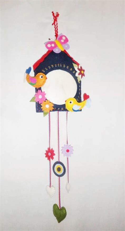 Wall Hangings Handmade - items similar to felt ornament felt wall door hanging