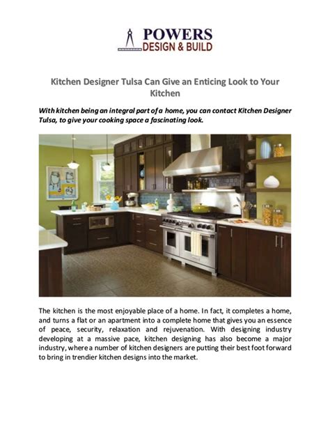 kitchen designer tulsa can give an enticing look to your