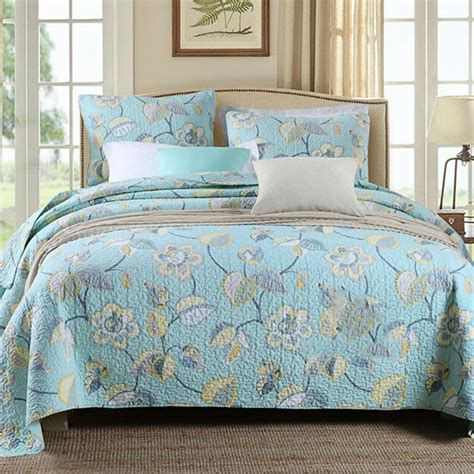 Quilted Cotton Bedspreads by 100 Cotton Bedspreads Floral Soft Quilted Bedspread