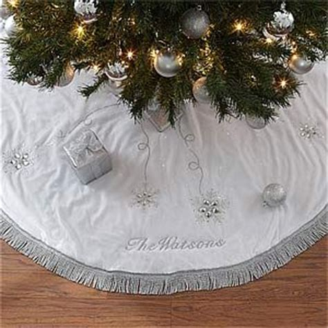 season s sparkle embroidered tree skirt beautiful