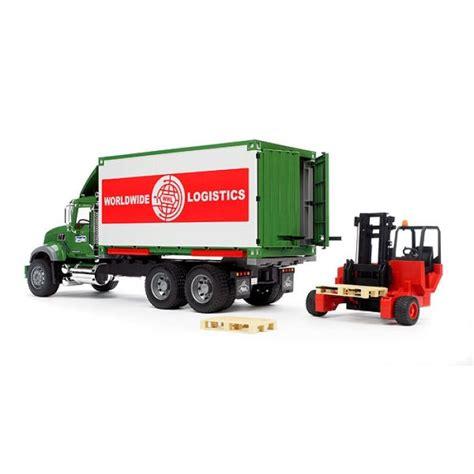bruder trucks bruder granite cargo truck w forklift attached trucks
