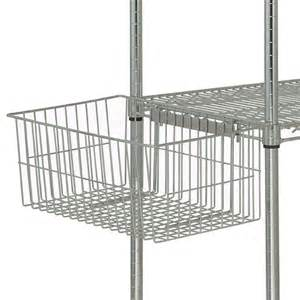 quantum wire shelving accessories utility basket model