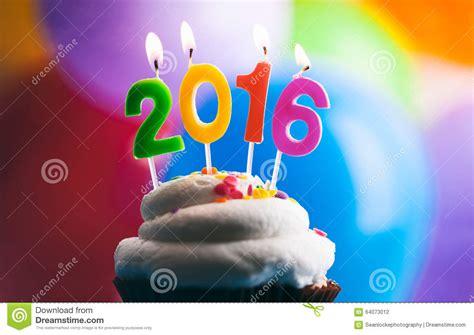 new year 2016 everyone birthday happy new year 2016 birthday candles on cake stock photo