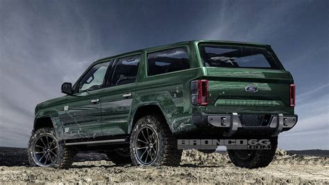 new ford bronco rendering adds two doors and removes the roof
