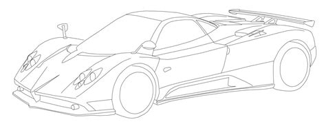 pagani drawing free coloring pages of pagani huayra drawing