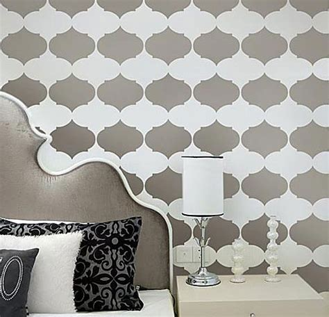 diy wall stencil patterns home ideas designs