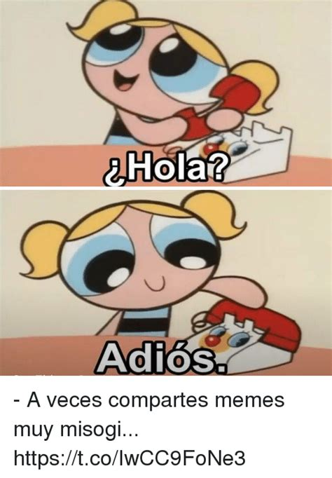 Hola Meme - hola adios a veces compartes memes muy misogi