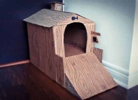diy cardboard cat house diy cardboard cat house the dog house pinterest