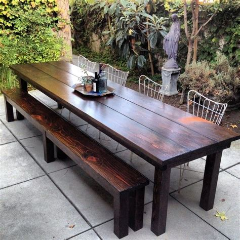 Simple Outdoor Dining Area with Rustic Outdoor Furniture