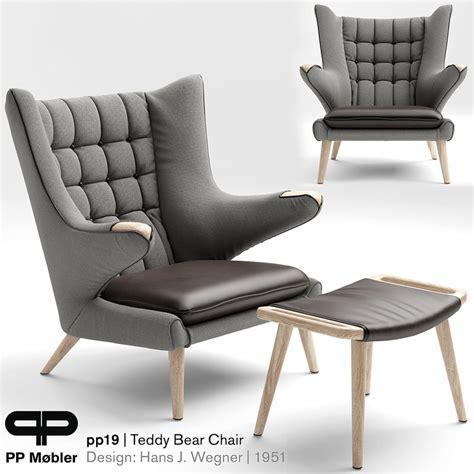 teddy armchair chair armchair teddy 3d model