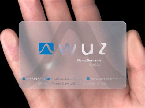 how to make plastic business cards clear plastic buiness cards transparent business cards