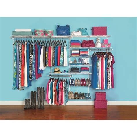 Closet Organizers Lowes Kits by Shop Rubbermaid Homefree Series 10 Ft Adjustable Mount