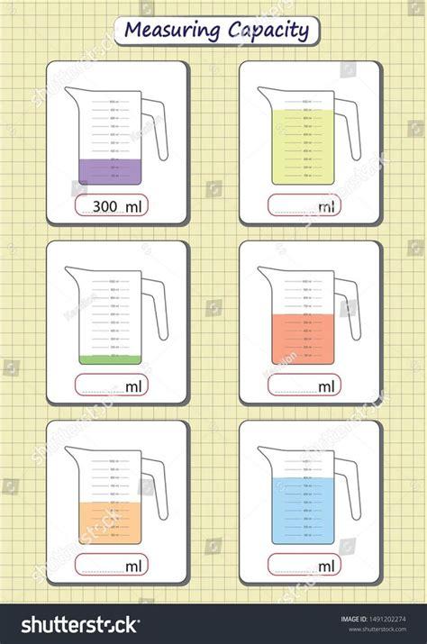 capacity worksheets  kindergarten capacity worksheets