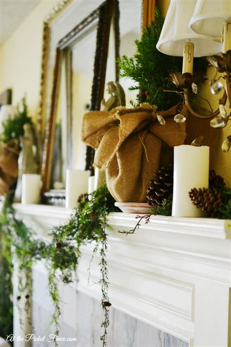 country christmas mantel decorating ideas country mantel at the picket fence