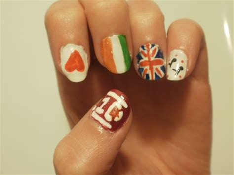 tutorial nail art one direction one direction left hand nail art gallery