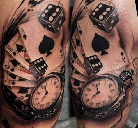 card and dice tattoo designs best 25 card ideas on deck of cards