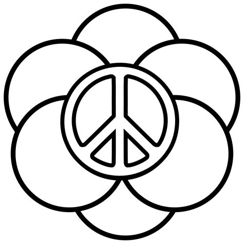peaceful patterns coloring pages peace sign printable clipart best