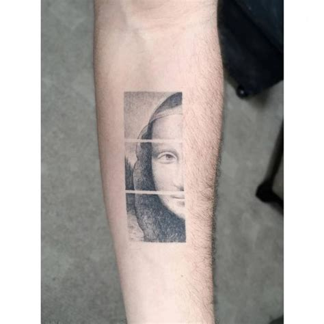 mona lisa tattoo 70 best tatuajes de obras de arte images on
