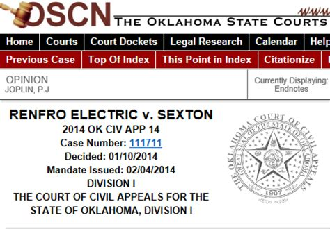 Oscn Court Records Search Oscn