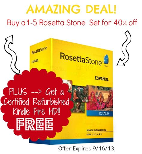 rosetta stone kindle rosetta stone levels 1 5 sets 40 off free certified