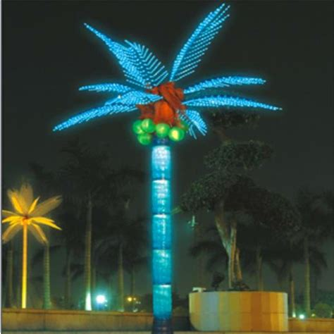 Outdoor Lighted Palm Tree Coconut Palm Tree Led Lighted Outdoor Decors Buy Coconut Palm Tree Artificial Lighted Palm