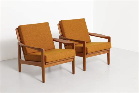 Teak Armchair by Pair Of Teak Armchairs N Eilersen Modestfurniture
