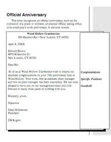business anniversary letter company anniversary congratulation letter
