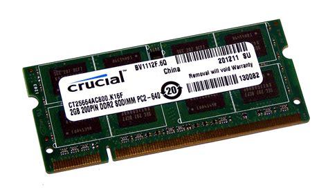 Ram Sodimm Ddr2 2gb crucial ct25664ac800 k16f 2gb ddr2 pc2 6400s 800mhz sodimm 200 pin ram module 649528739179 ebay