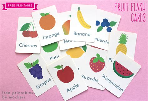 printable flash cards fruitflash