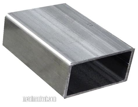 100 x 50 aluminium box section rectangular hollow section steel erw 100mm x 50mm x 2mm