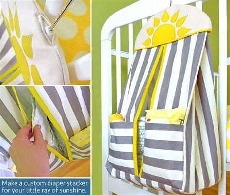 diaper holder pattern free hanging diaper stacker for the nursery sew4home